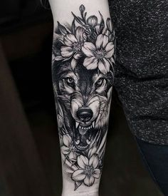 Angry wolf tattoo #black_wolf_tattoo