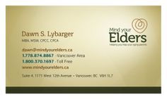 Mind Your Elders BizCard Back