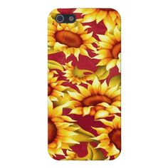Sunflower Splash Cases For iPhone 5