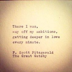F. Scott Fitzgerald. The Great Gatsby. Quote