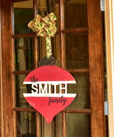 Unfinished Personalized Family Ornaments will add cheer to your holiday decor.