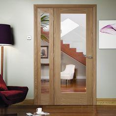 Easi-Frame Oak Door Set, GOSHAP10-COEOP36L, 2005mm Height, 1203mm Wide. #oakroomdividers #internaloakdoor #xljoinerydoor