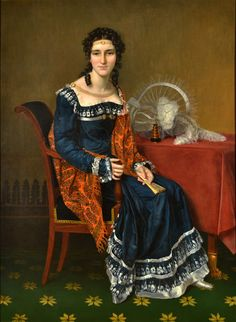 Portrait of a Lady by FRANCOIS JOSEPH KINSOEN (KINSON) - Cider House Galleries