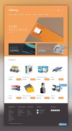 Stationery Store Magento Theme E-commerce Templates, Magento Themes, Business & Services, Business Services, Stationery Templates
