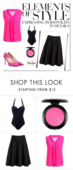 """""""Rosegal 32"""" by miincee ❤ liked on Polyvore featuring MAC Cosmetics, Jimmy Choo and Vera Wang"""