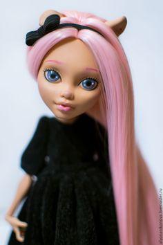 Купить ООАК Хоулин (Monster High) - бледно-розовый, розовый, черный, кукла, ооак, хоулин
