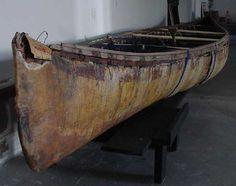 Abenaki birch bark Canoe