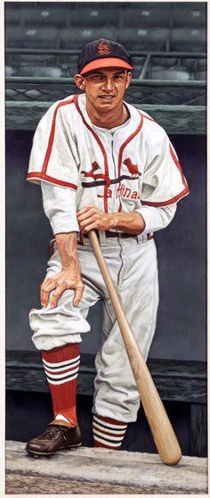 Stan Musial artwork by Arthur K Miller.