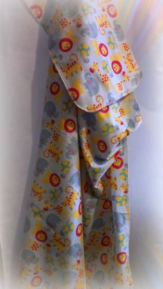 Cotton Flannel Baby Receiving Blanket and Burp by sandybiebel, $17.00