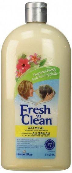 Fresh 'n Clean Oatmeal 'n Baking Soda Shampoo - Tropical Scent - 32 oz Soothes skin with natural colloidal oatmealDeodorizes coat with baking sodaVitamin E & aloe moisturize, strengthen & repair coatsMade in the USA by Lambert Kay Baking Soda Dry Shampoo, Baking Soda For Dandruff, Baking Soda Baking Powder, Honey Shampoo, Baking Soda Vinegar, Baking Soda Water, Baking Soda Uses, Natural Shampoo, Cider Vinegar