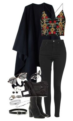 """""""Untitled #1033"""" by manoella-f on Polyvore featuring Acne Studios, Topshop, Balenciaga, Étoile Isabel Marant, Sweet Romance, Forever 21, Illesteva, B-Low the Belt, Cartier and Mulberry"""
