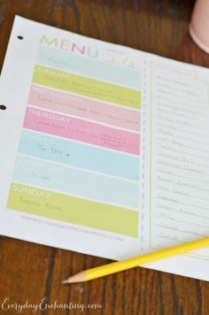 Free Printables to Help You Get Organized {Everyday Enchanting} - Just a Girl and Her Blog