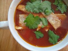 Mexican Chicken Soup and Homemade Tortillas (chicken breast, black beans, cilantro, cheese)
