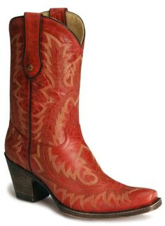 Corral Short Red Cowgirl Boots available at #Sheplers
