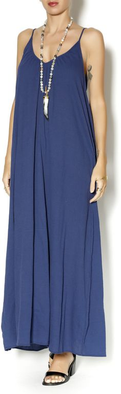 9Seed Navy Cotton Maxi Dress on shopstyle.com.au