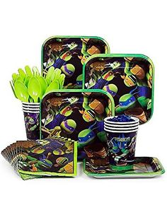 Ninja Turtles TMNT Standard Party Supplies Kit - Serves - http://partythings.com/ninja-turtles-tmnt-standard-party-supplies-kit-serves.html