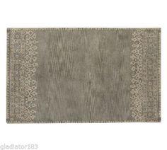 Pottery Barn Desa Rug 9 x 12 Gray Color Brand New Retail $899   eBay