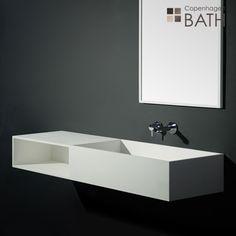 Stor håndvask til vægmontering. Håndvasken kan bestilles i andre mål