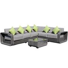 Love this grey outdoor set! Would be so nice in our new backyard for dam and friends!BuildDirect®: Kontiki Conversation Sets - Wicker Sectional Sets