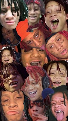 Sick Collage of Trippie Redd Sick Collage of Trippie Redd GOGOPIX gogopixpinboards Sick TRIPPIE REDD Wallpapers and Backgrounds Faces to today Trippie Redd Collage Wallpaper nbsp hellip wallpaper collage Miss U My Love, Love U So Much, Trippie Redd, Red Wallpaper, Trippy Wallpaper, Iphone Wallpaper, Just Beautiful Men, Dope Wallpapers, Star Wars