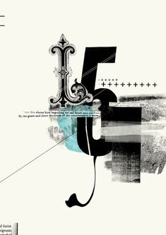 Typographic Posters by Amanda Mocci #contemporary #vintage #collage