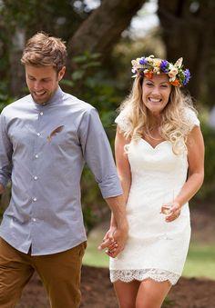 A PICNIC WEDDING: TUI   JIMMY.  Dress - www.nicoladawsondesign.co.nz