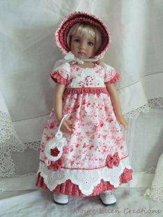"13"" Effner Little Darling BJD fashion London Lawn Regency OOAK handmade by JEC #ClothingAccessories. SOLD for $132.50 on 5/3/15."
