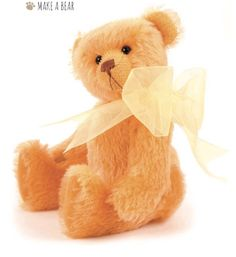 Florence, a little bear made in a sunny yellow shade of mohair, will lighten up your mood and make you smile. Pattern available in this issue #233 of Teddy Bear Times magazine. Buy it at http://www.teddybeartimes.com/. #teddybeartimes #magazine #pattern