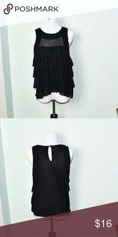 Express Sexy Stretch Black Blouse In excellent condition! Very comfortable, stretchy, and lightweight! Buy 3 items and get 1 free plus 15% off your purchase total Express Tops Blouses