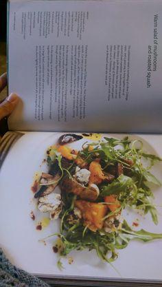 Mushroom and roasted squash salad
