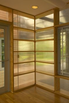 Interior polycarbonate walls--really subtle and lovely...