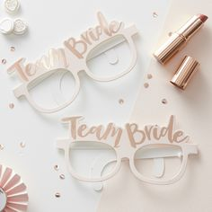 These cute Team Bride glasses are a fun accessory for any hen party group! The pink teamed with the rose gold makes them look extra special and classy.