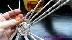 Návod na pletené dno - pletení z papíru