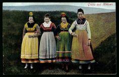 Ansichtskarte / Postkarte Trachten Hessen, Frauen in Trachten  gelaufen 1907