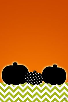 Free, Cute, Polka-Dotted Pumpkin & Chevron iPhone wallpaper