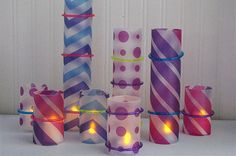 """Use battery-operated """"flames"""" and transparent folders to create these lifelike candles. 18 DIY Dollar-Store Projects That'll Transform Your Dorm For Cheap 10 Dollar Store, Dollar Store Crafts, Fun Crafts, Diy And Crafts, Crafts For Kids, Diy Projects To Try, Craft Projects, Craft Ideas, Decor Ideas"""