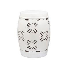 Outdoor Safavieh Sakura Ceramic Garden Stool, White