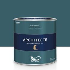 Paint sèvres blue velvet dulux valentine architect 5 l Dulux Paint, Pastel Walls, Interior House Colors, Home Salon, Room Paint, Blue Velvet, House Painting, Leroy Merlin, Malachite