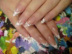 stiletto nail designs   Best White Stiletto Nails Art For Brides   All About Fashion