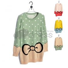 The bows round neck knit sweater