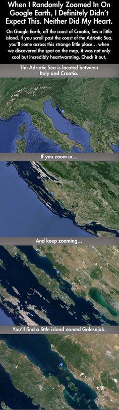 The earth's heart…