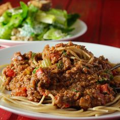 Vegan ~ Like many families, Spaghetti Bolognese was a staple in our house growing up and after making this plant based walnut mushroom 'meat' for the first time a few years back, I could hardly… Plant Based Recipes, Veggie Recipes, Pasta Recipes, Whole Food Recipes, Cooking Recipes, Veggie Dinners, Pasta Sauces, Entree Recipes, Mushroom Recipes
