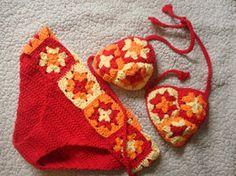 Granny Square Chic Bikini