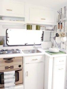 Luxury caravan kitchen