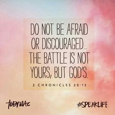 Don't be afraid of what others may think. Don't be discouraged that you can't change them. Go up to the battle line and stand firm in love.