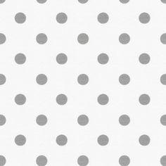 white & grey polka dot - bedding