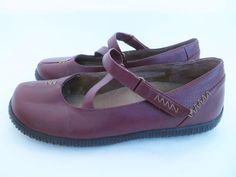 ORTHAHEEL Women Size 9 Vionic Myla Red Mary Jane Flats Strap Ballet Arch Support #Vionic #Myla #Casual