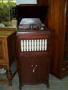Antique Phonograph Cabinet | Bar Cabinet