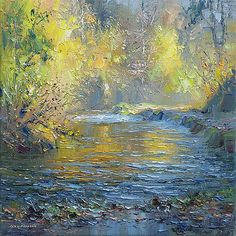 "Rex Preston - ""Autumn Golds, Beresford Dale""...such memories of these areas..."