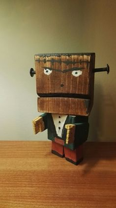 Wooden Zombie Toy